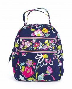 flowers on vera bradley lunch bunch bag